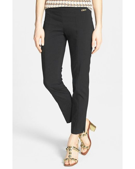 Tory Burch | Black 'callie' Seamed Crop Pants | Lyst