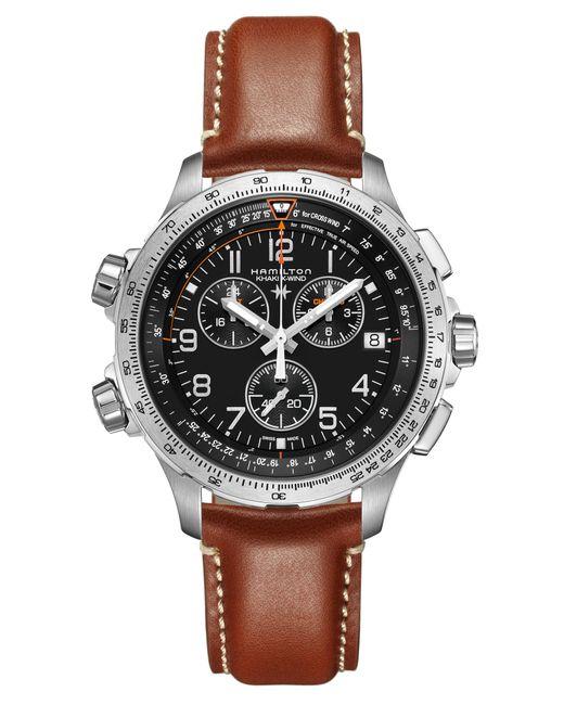 Hamilton - Metallic Khaki X-wind Chronograph Leather Strap Watch for Men - Lyst