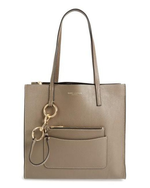 Marc Jacobs | Brown The Bold Grind Leather Pocket Tote | Lyst