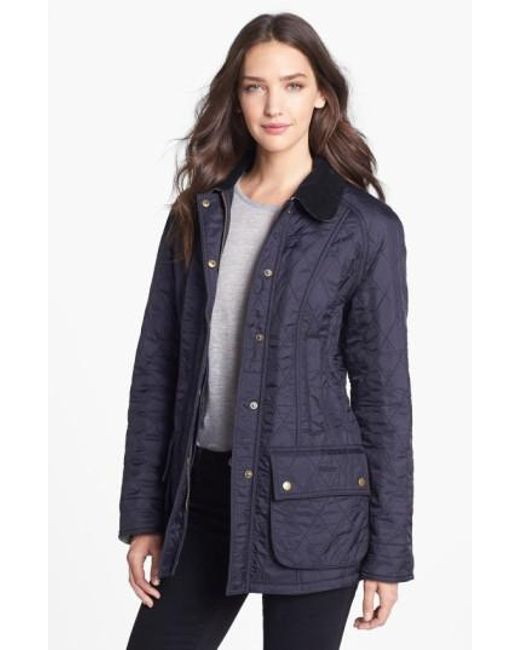 Barbour - Blue 'beadnell' Quilted Jacket - Lyst