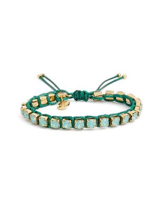 Tory Burch | Green Friendship Bracelet | Lyst