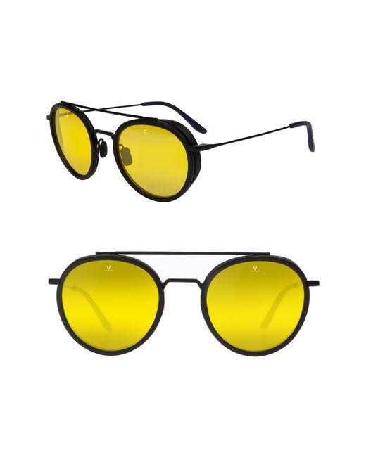 Vuarnet Metallic Edge 52mm Round Sunglasses - Nightlynx for men