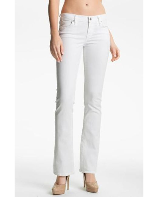 Citizens of Humanity - White Amber Santorini Mid-rise Boot-cut Jeans - Lyst