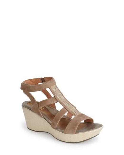 Naot | Brown 'mystery' Platform Wedge Sandal | Lyst