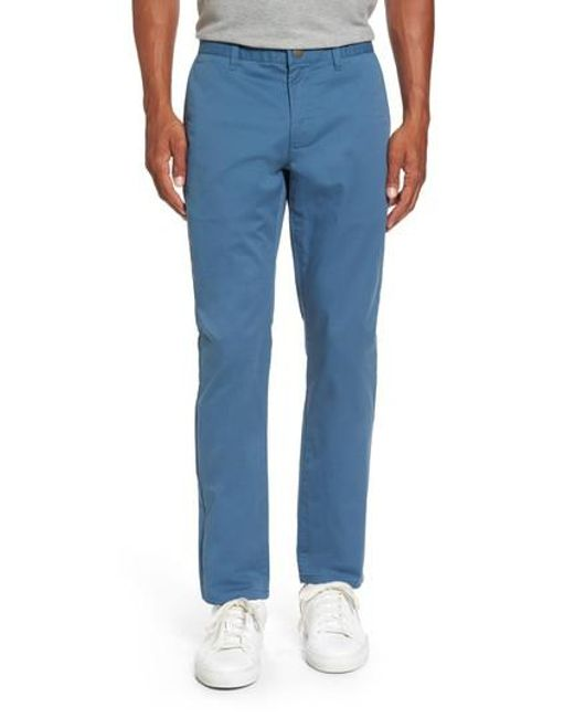 Bonobos | Natural Tailored Fit Washed Stretch Cotton Chinos for Men | Lyst