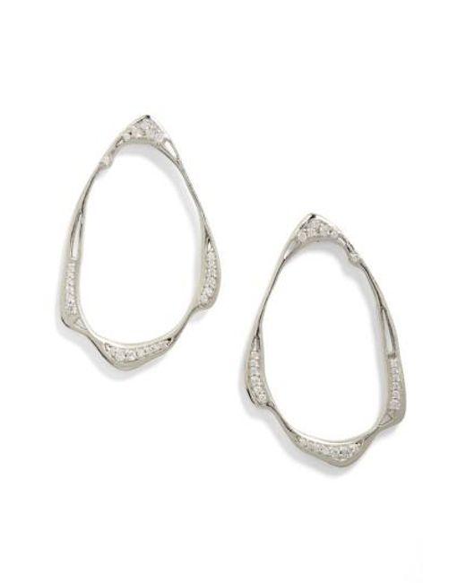 Kendra Scott   Metallic Livi Frontal Hoop Earrings   Lyst