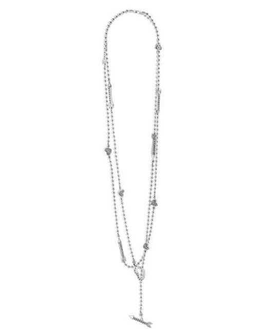 Lagos   Metallic 'beloved' Heart & Arrow Toggle Necklace   Lyst