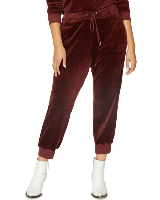 Sanctuary - Red Velour Track Jogger Pants - Lyst