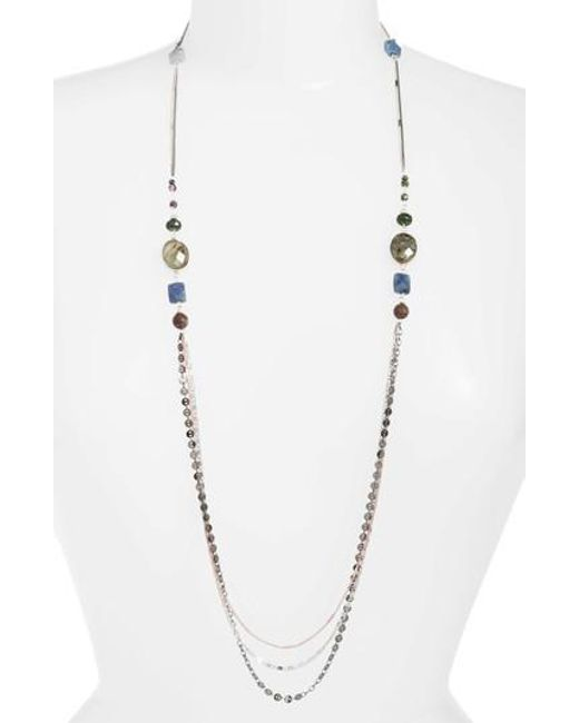 Nakamol | Gray Beaded Necklace | Lyst