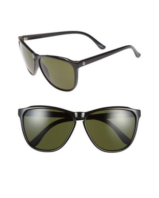 Electric | 'encelia' 61mm Retro Sunglasses - Gloss Black/ Grey | Lyst