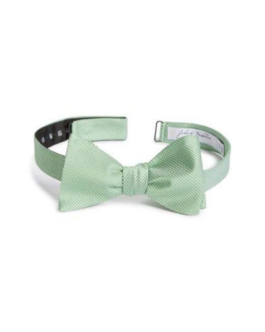 John W. Nordstrom   Green John W. Nordstrom Dot Silk Bow Tie for Men   Lyst