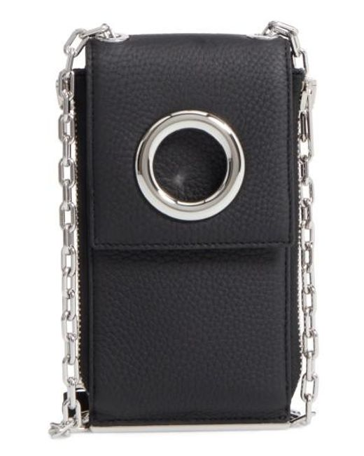 Alexander Wang | Black Riot Leather Wallet On A Chain | Lyst