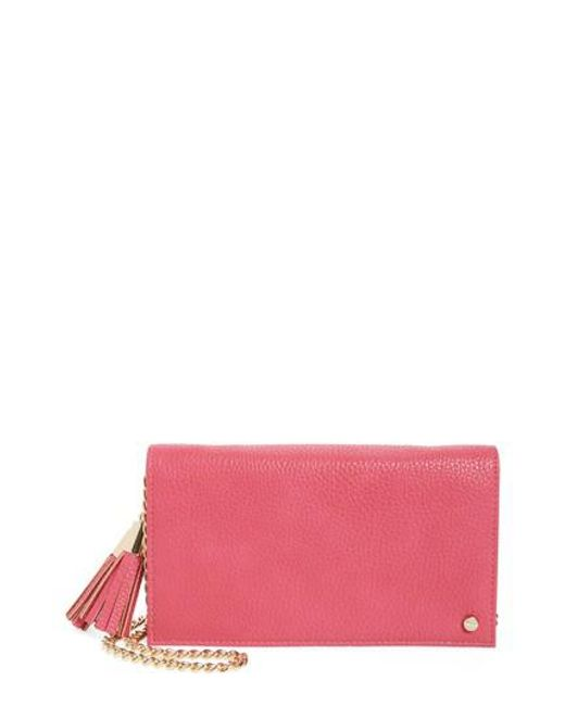 MALI AND LILI   Pink Mali + Lili Tassel Convertible Faux Leather Clutch   Lyst