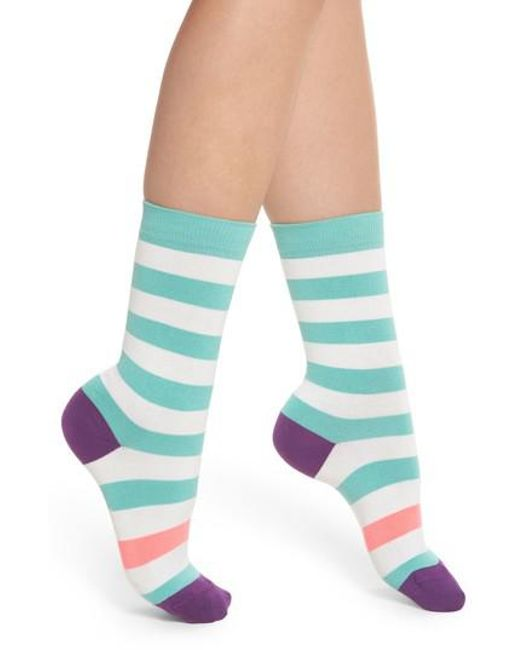 Paul Smith - Multicolor Fearne Stripe Crew Socks - Lyst