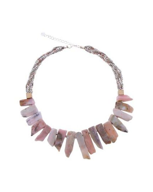 Nakamol - Pink Short Stick Agate & Crystal Collar Necklace - Lyst