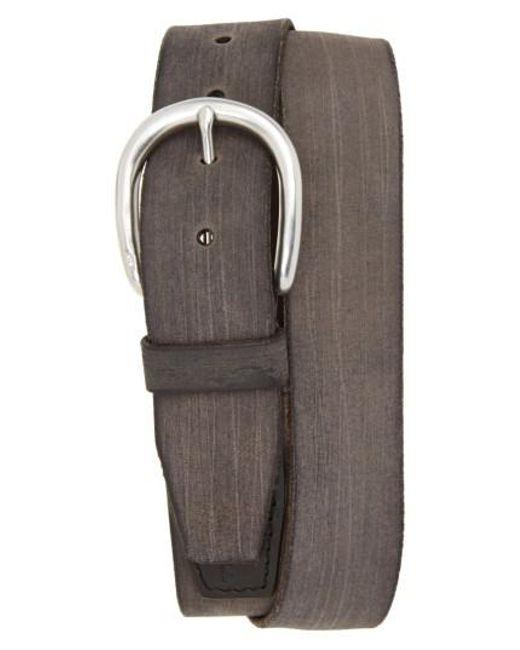 John Varvatos - Black Hand Burnished Leather Belt for Men - Lyst