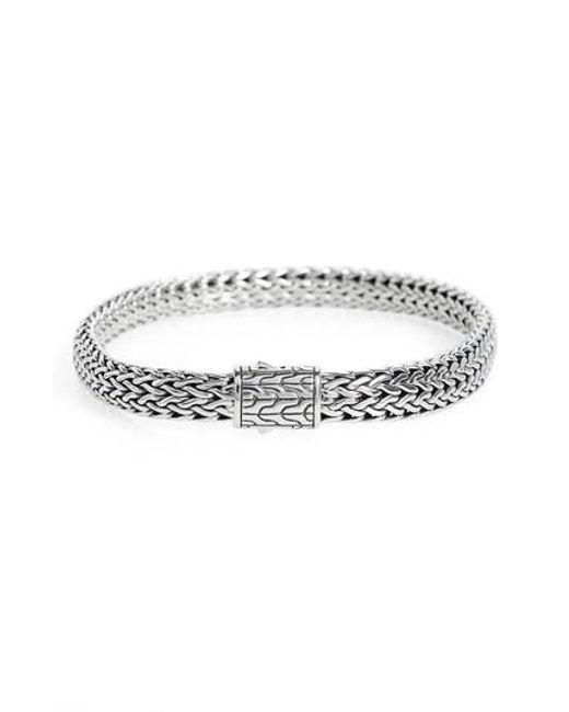 John Hardy - Metallic Classic Chain Small Flat Chain Bracelet - Lyst