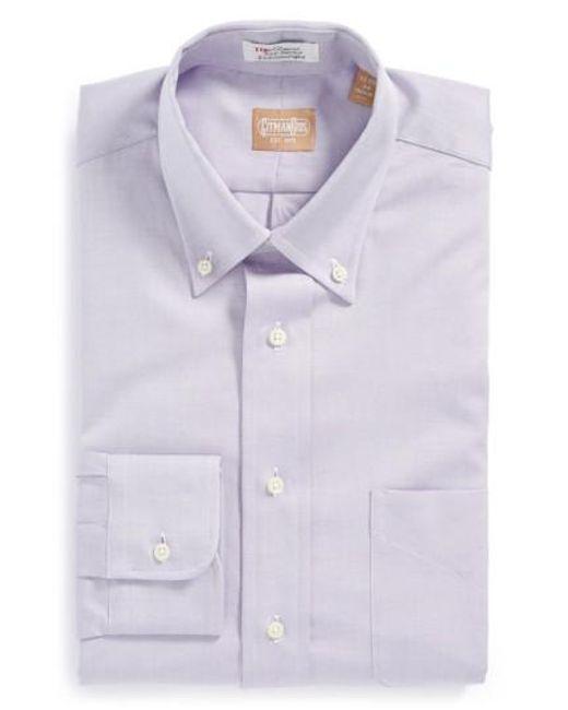 Gitman Brothers Vintage - Purple Regular Fit Pinpoint Cotton Oxford Button Down Dress Shirt for Men - Lyst