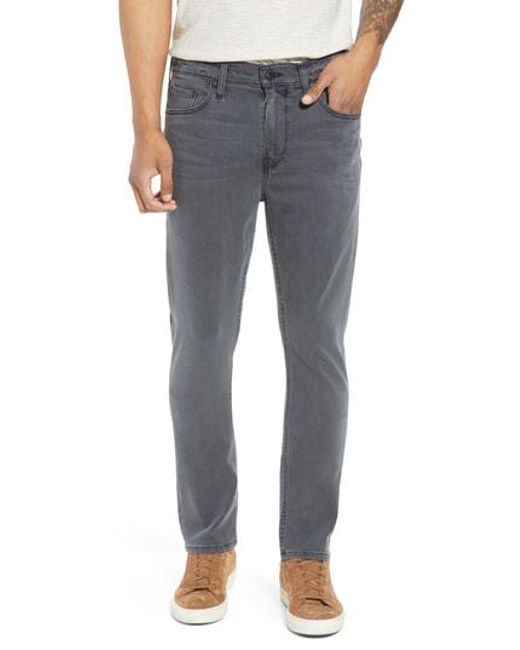 PAIGE - Gray Federal Slim Straight Leg Jeans for Men - Lyst