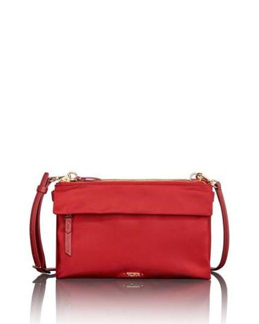 Tumi | Red Voyageur - Tristen Nylon Crossbody Bag | Lyst