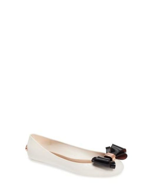 Ted Baker | Multicolor Julivia Bow Flat | Lyst