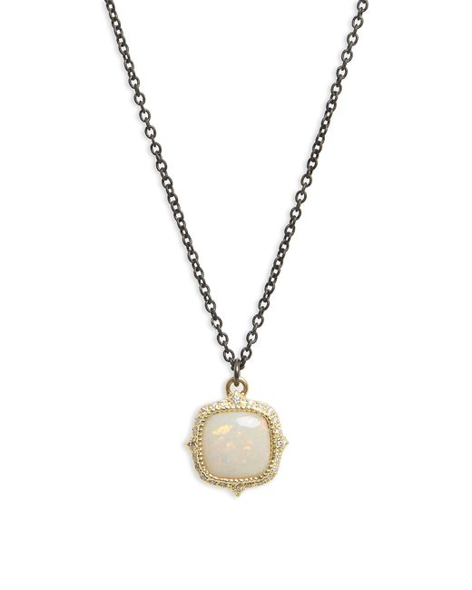 Armenta - Metallic Old World Cushion Opal Drop Necklace - Lyst