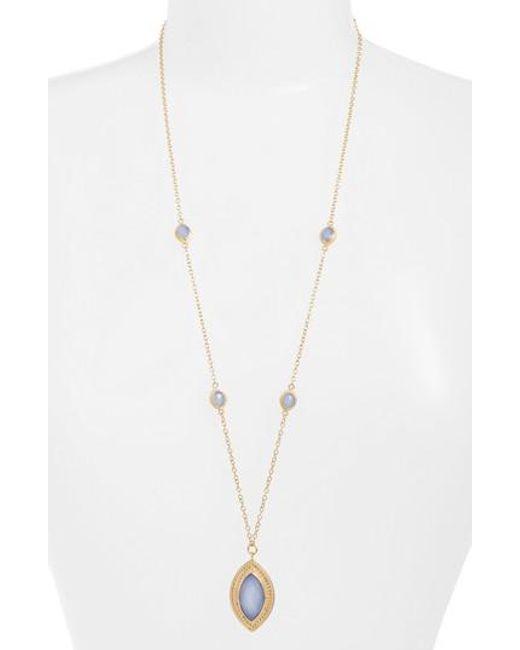 Anna Beck | Metallic Semiprecious Stone Pendant Necklace | Lyst