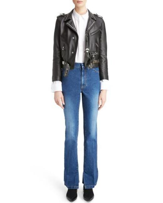 Toga | Black Studded Leather Moto Jacket | Lyst