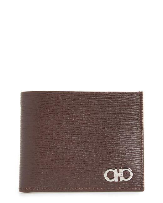 Ferragamo - Brown Revival Gancio Bifold Leather Wallet - for Men - Lyst