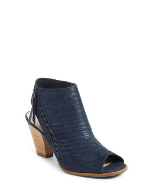Paul Green - Blue 'cayanne' Leather Peep Toe Sandal - Lyst