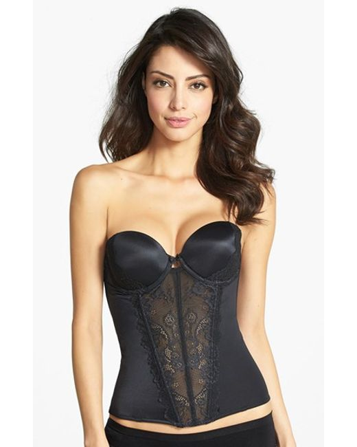Felina | Black 'caress Too' Lace Underwire Bustier | Lyst