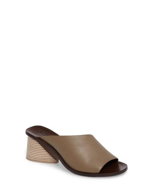 MERCEDES CASTILLO - Brown Izar Slide Sandal - Lyst