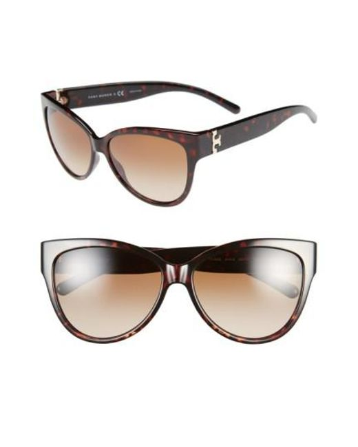 Tory Burch | Red 59mm Cat Eye Sunglasses | Lyst