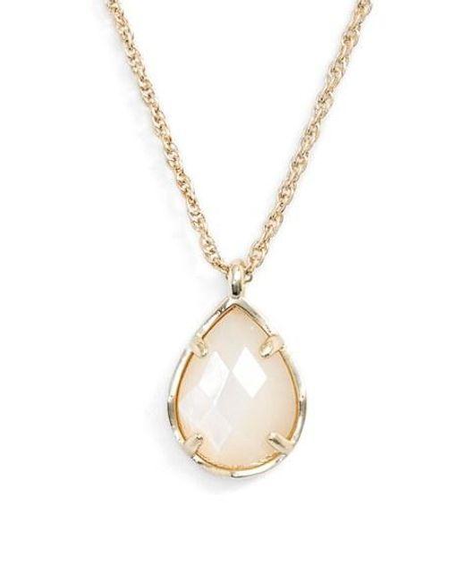 Kendra Scott | Metallic Kiri Teardrop Pendant Necklace | Lyst