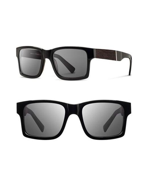 Shwood   Black 'haystack' 52mm Wood Sunglasses for Men   Lyst