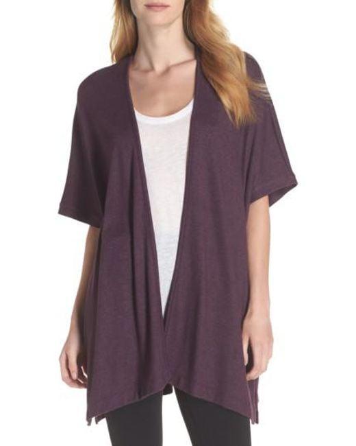Natori | Purple Retreat Sweater Knit Cardigan | Lyst