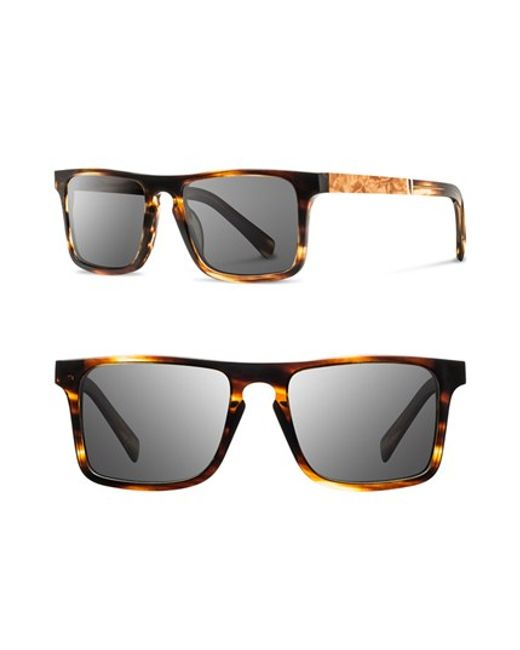 Shwood | Gray 'govy' 52mm Wood Sunglasses for Men | Lyst