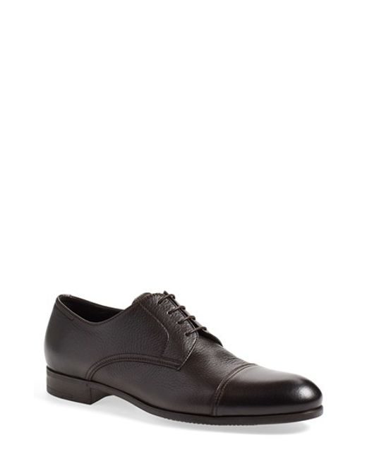 Ermenegildo Zegna | Brown 'pistoia' Cap Toe Derby for Men | Lyst