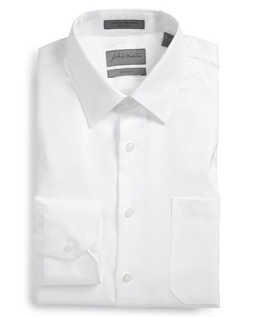 John W. Nordstrom | White John W. Nordstrom Classic Fit Herringbone Dress Shirt for Men | Lyst