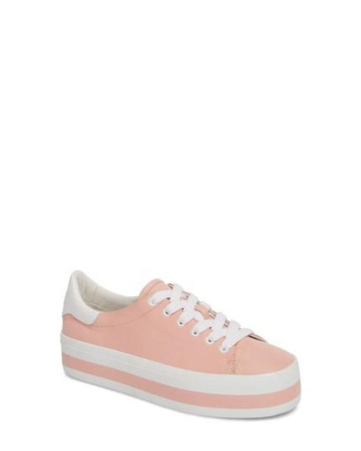 Alice + Olivia - Pink Ezra Flatform Sneaker - Lyst