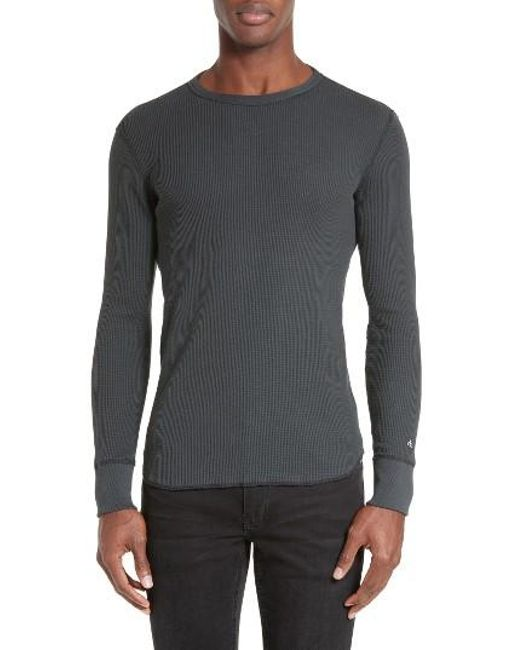 Rag & Bone | Black Standard Issue Long Sleeve Thermal T-shirt for Men | Lyst