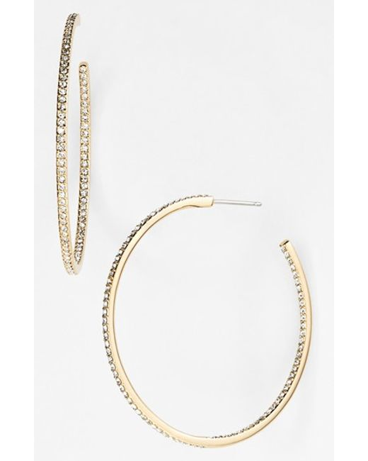 Nadri | Metallic Medium Inside Out Hoop Earrings (nordstrom Exclusive) | Lyst