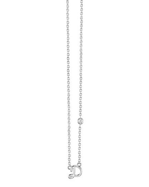 Shy By Sydney Evan - Metallic Diamond Initial Pendant Necklace - Lyst
