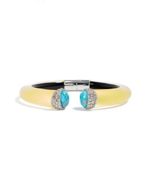 Alexis Bittar - Blue Encrusted Double Stone Lucite Hinge Bracelet - Lyst