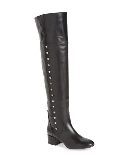 Charles David | Black Military Over The Knee Boot | Lyst