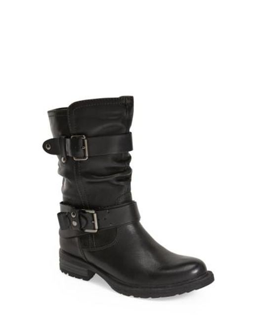 Earth | Black Everwood Leather Mid-Calf Boots | Lyst