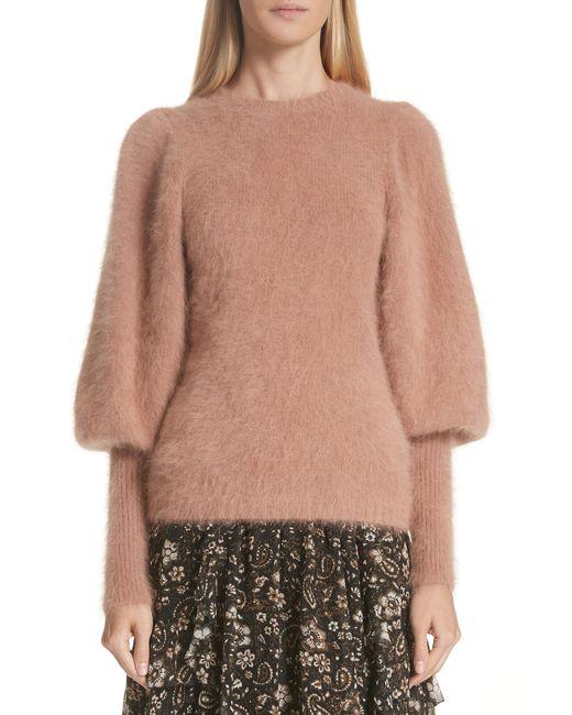 Ulla Johnson - Multicolor Labelle Puff Sleeve Angora Blend Sweater - Lyst