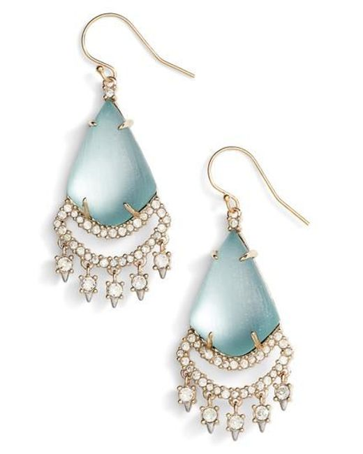 Alexis Bittar | Blue Crystal Lace Lucite Chandelier Earrings | Lyst