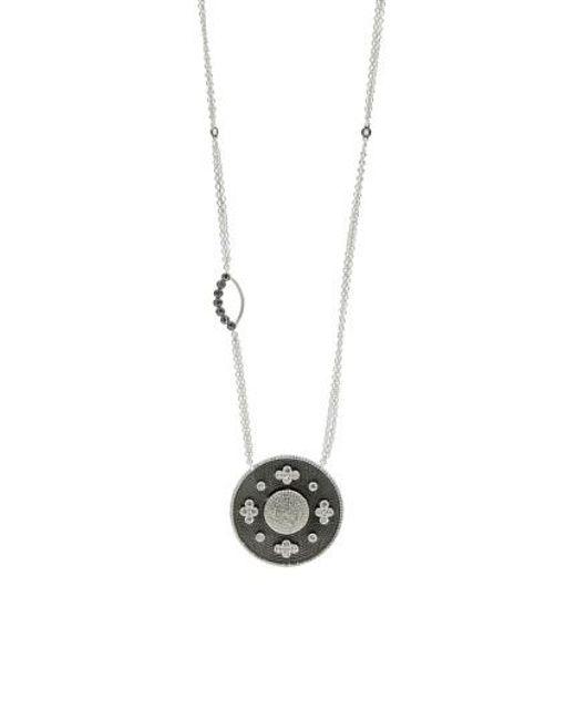 Freida Rothman | Metallic Industrial Finish Pendant Necklace | Lyst