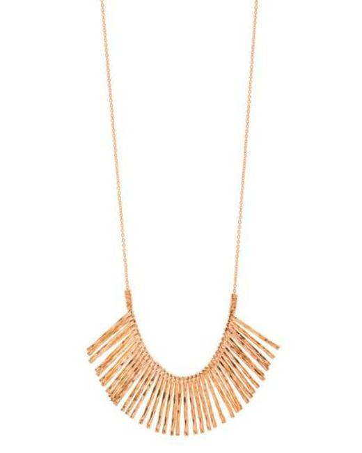 Gorjana | Metallic 'kylie' Fan Necklace | Lyst